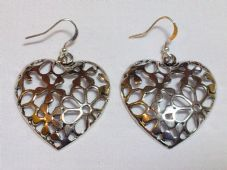 Domed Heart Earrings